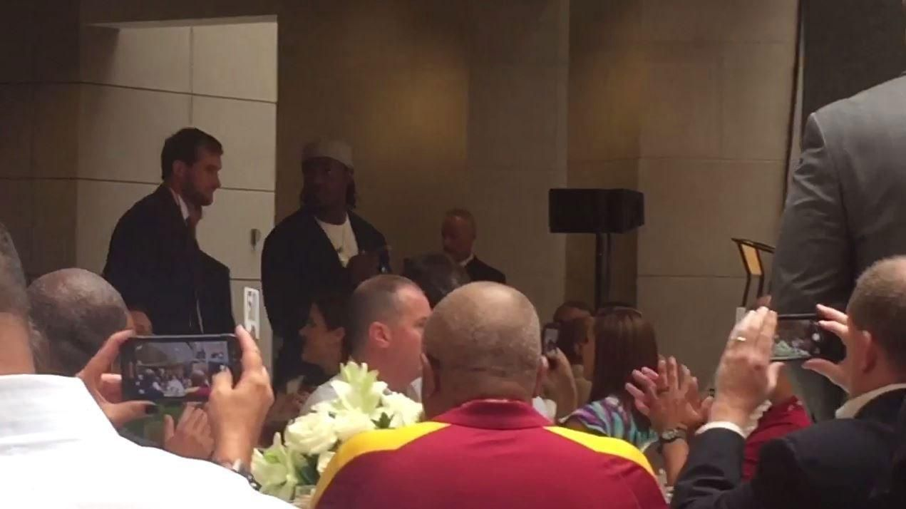 RG III introduced at Redskins luncheon