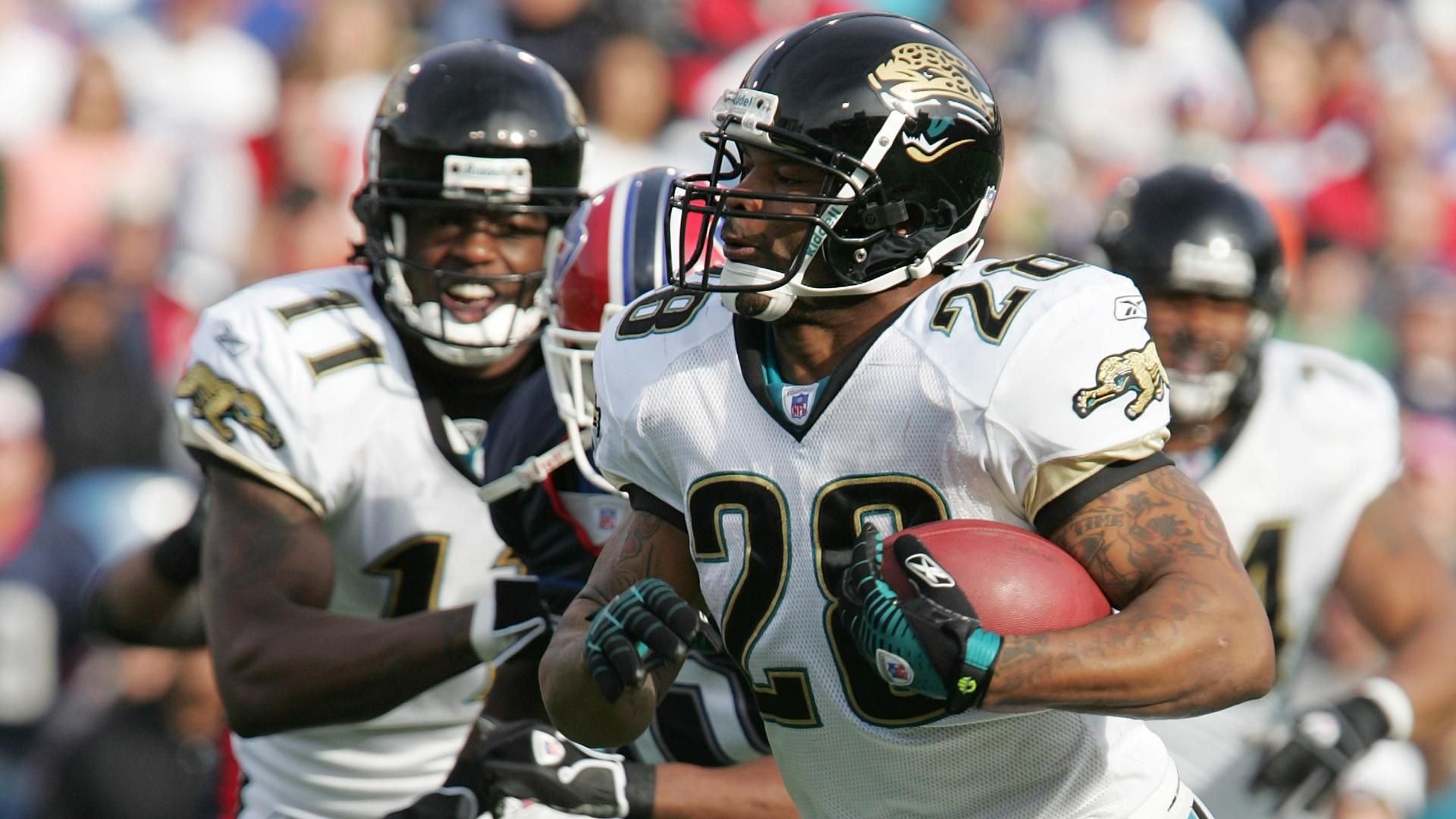 Fred Taylor reacts to his son's incident