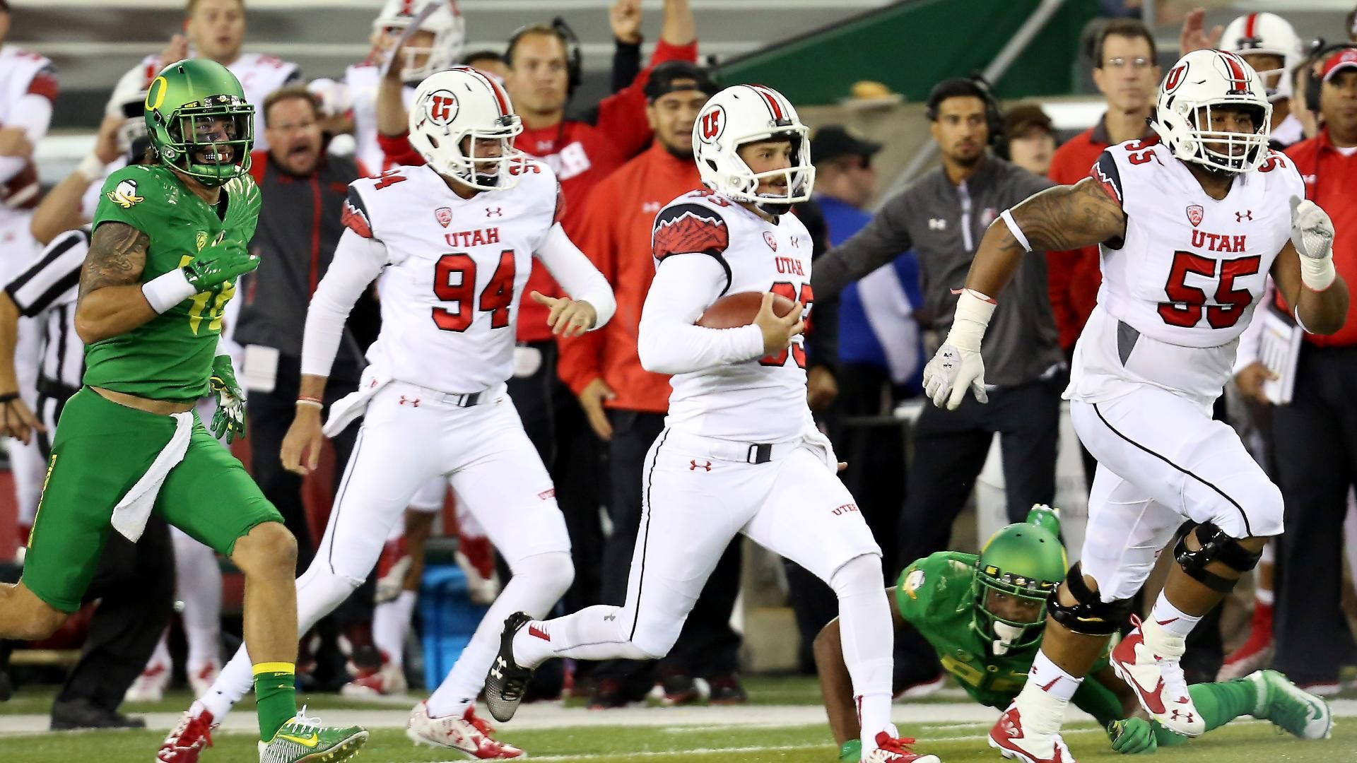 Utah steamrolls Oregon for historic loss