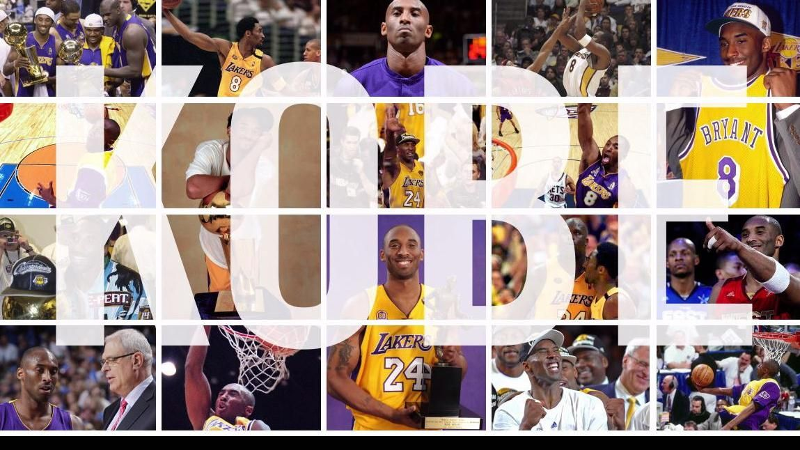 Kobe Bryant through the years