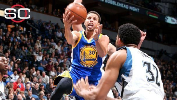 Curry stays hot with 46 against Timberwolves