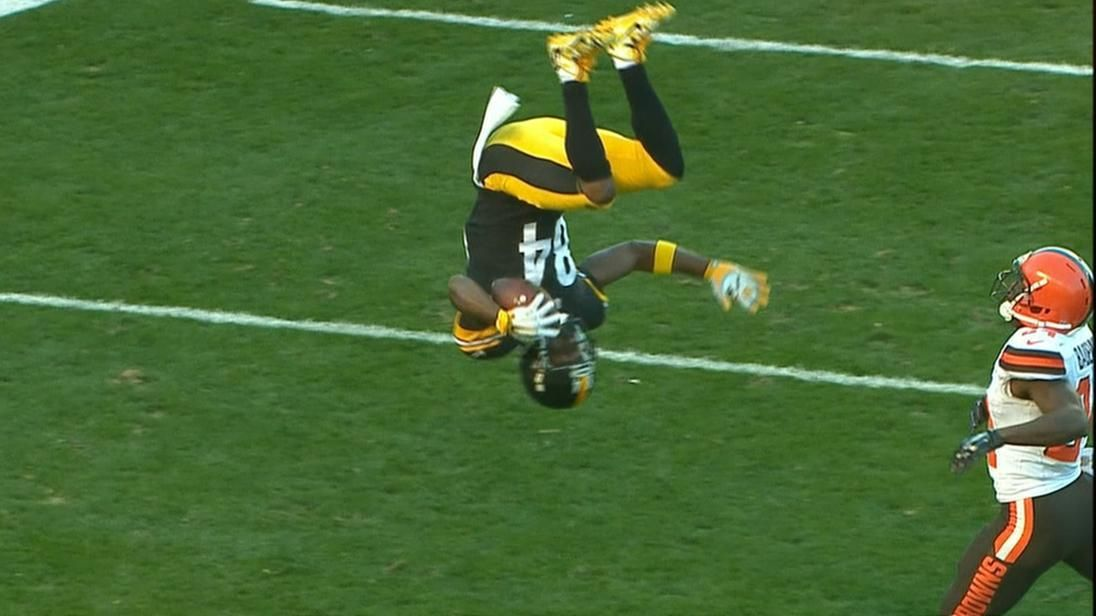 Brown front flips his way for a TD