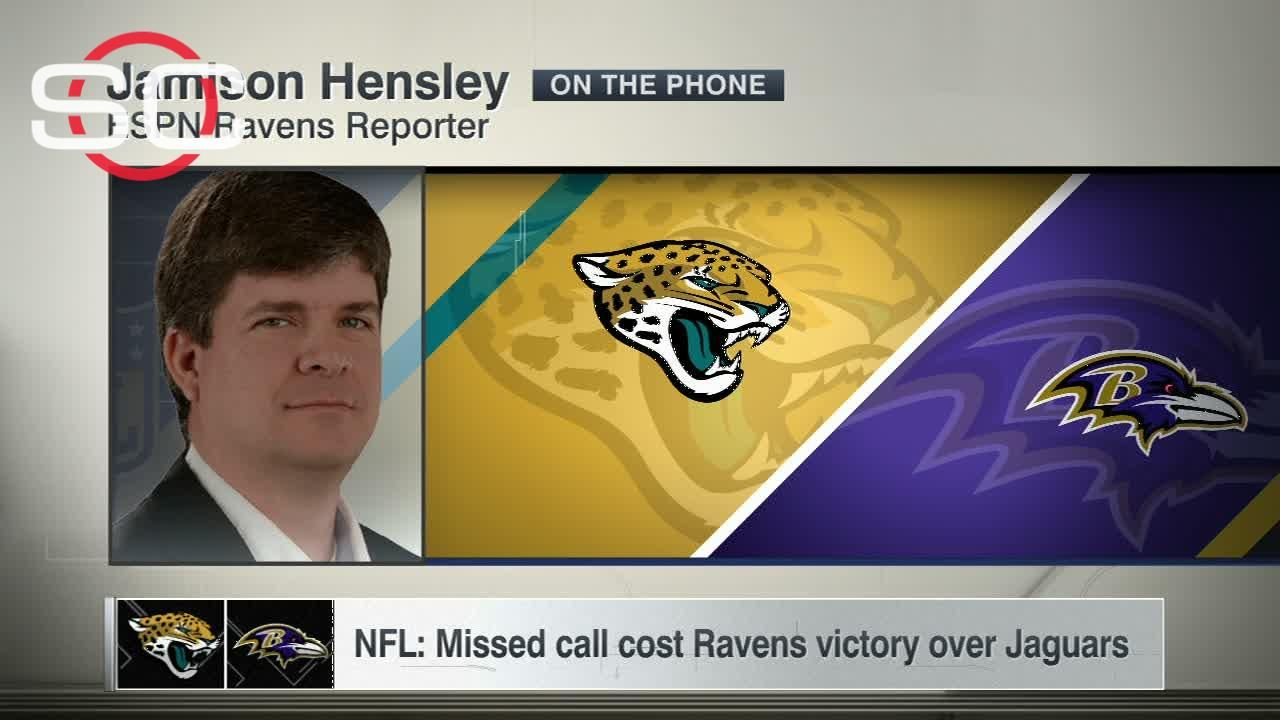 NFL: Missed call cost Ravens victory over Jaguars