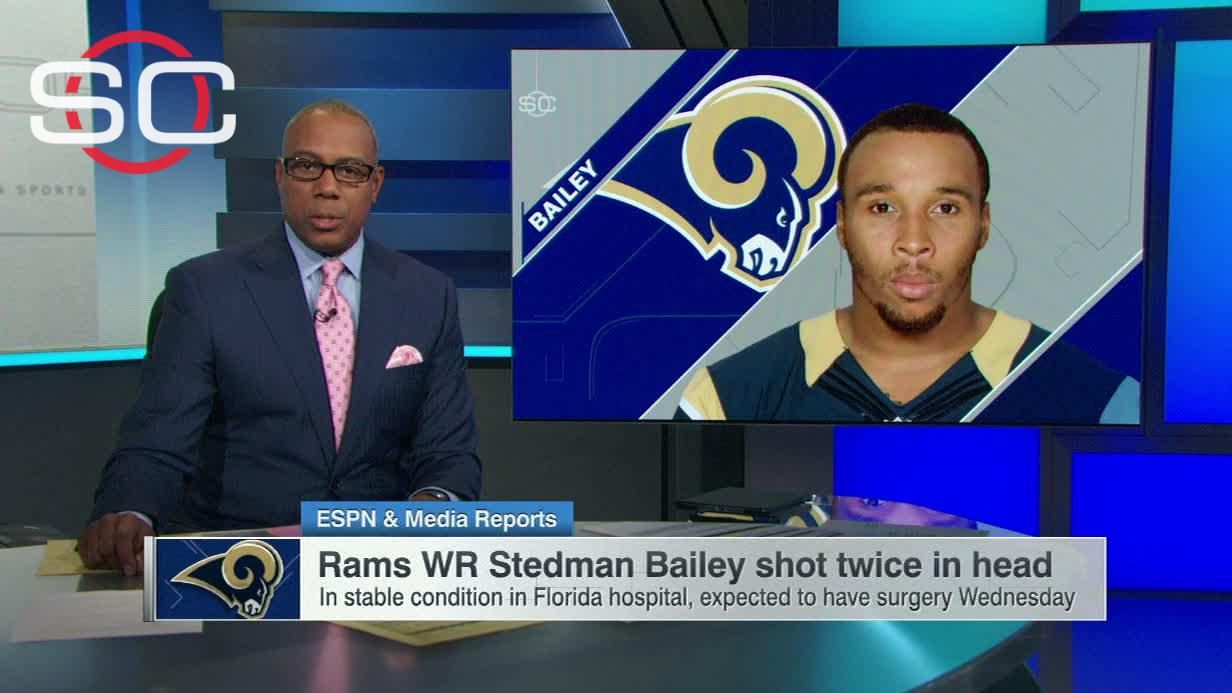 Rams WR Bailey is hospitalized after being shot