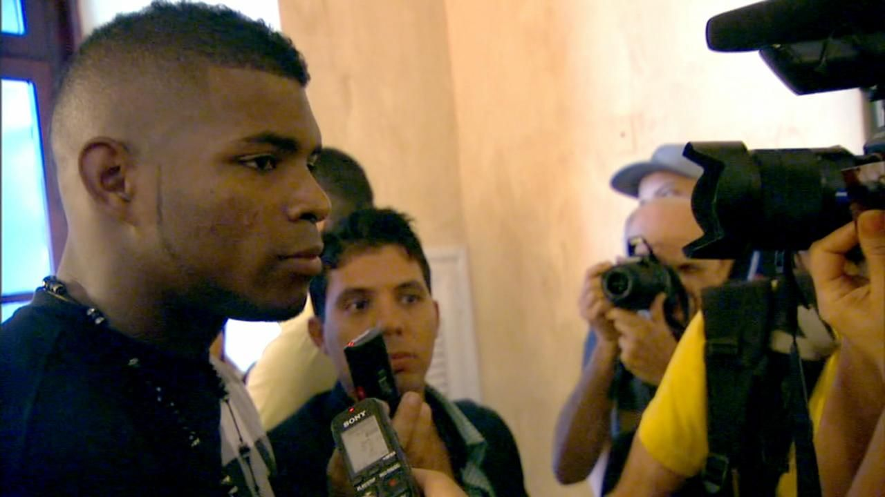 Puig proud to be back in Cuba