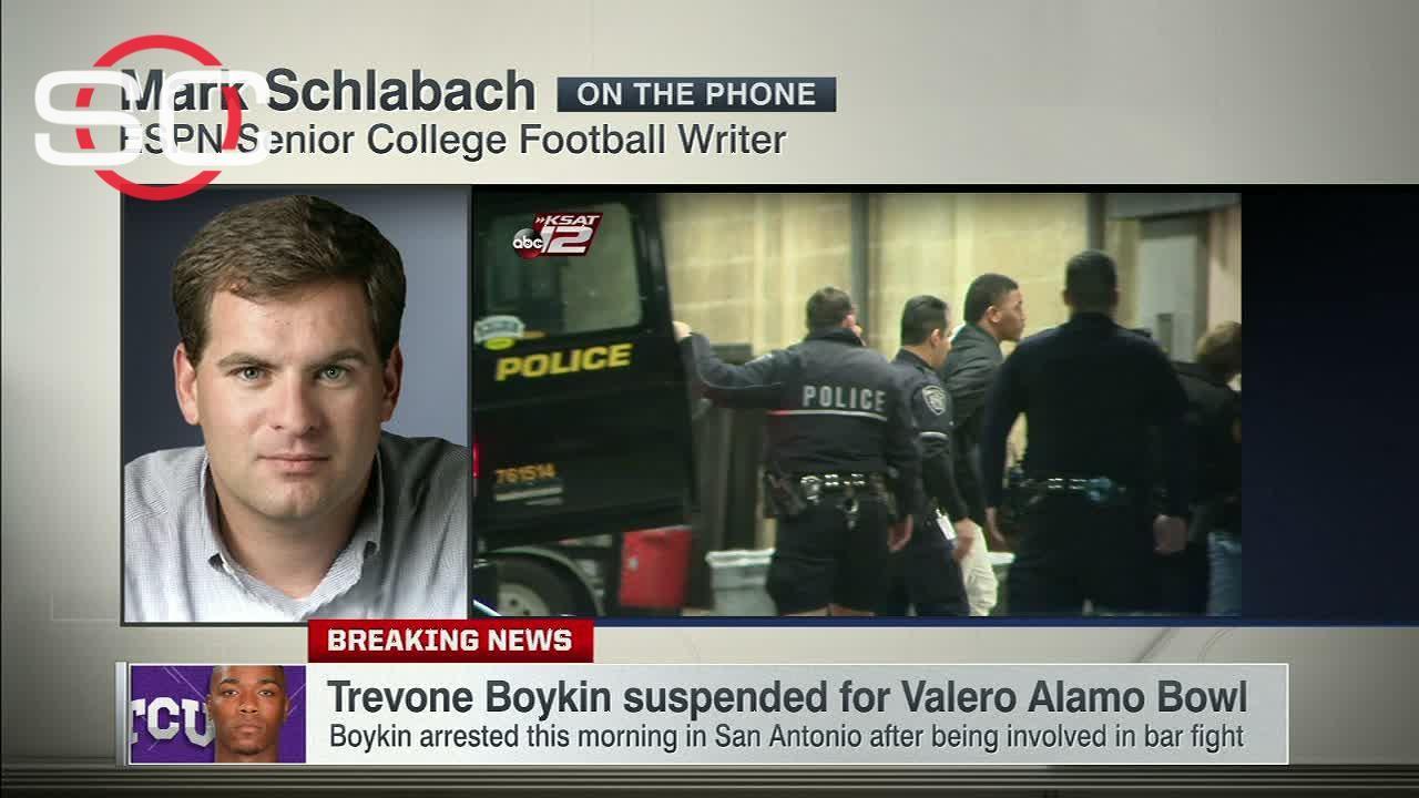 Boykin suspended for Valero Alamo Bowl