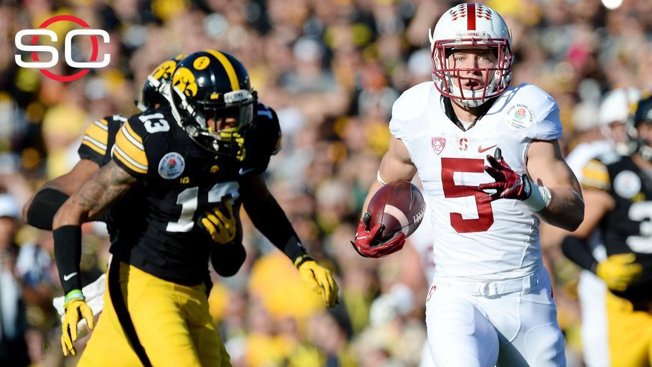 McCaffrey fuels Stanford to rout at Rose Bowl