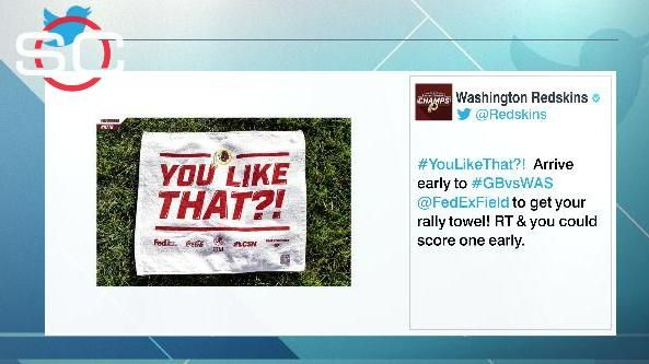 Redskins to give away rally towels