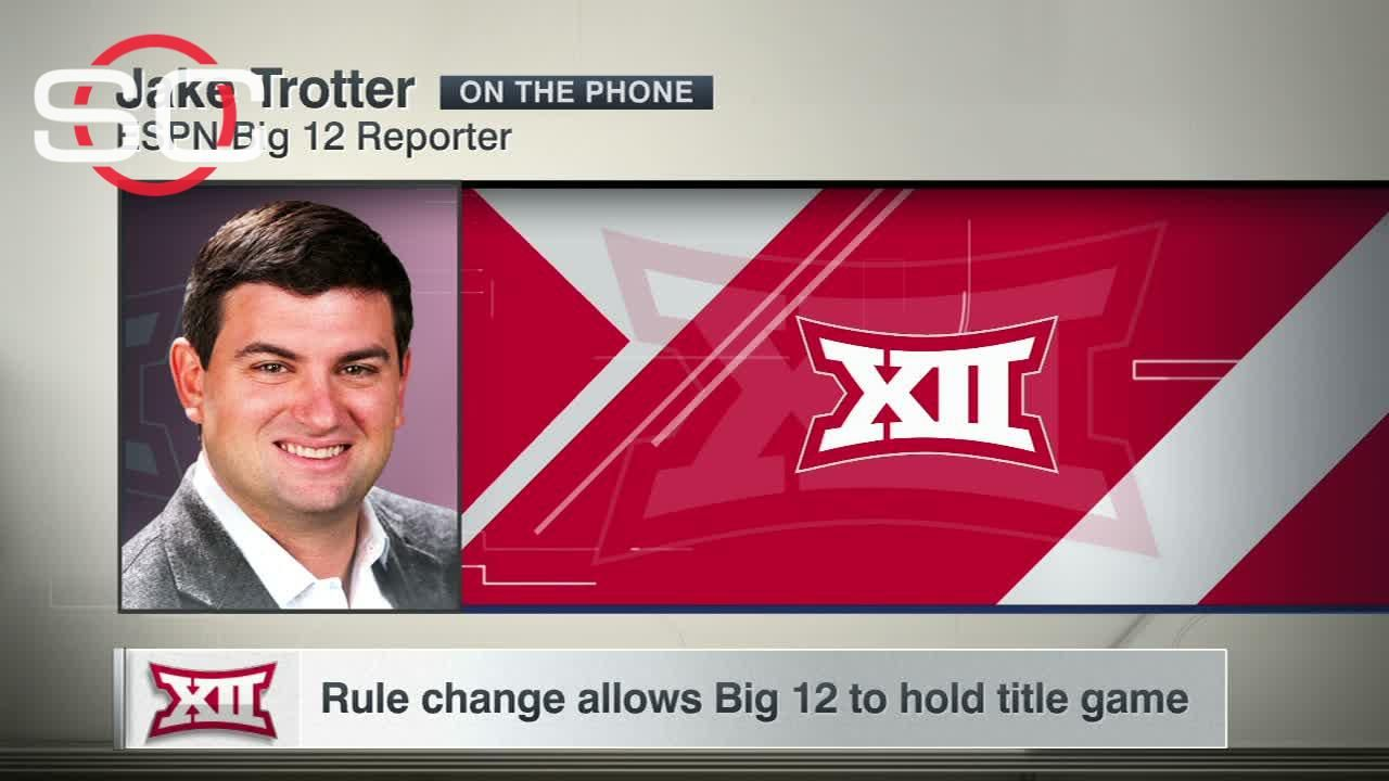 Rule change allows Big 12 to hold title game