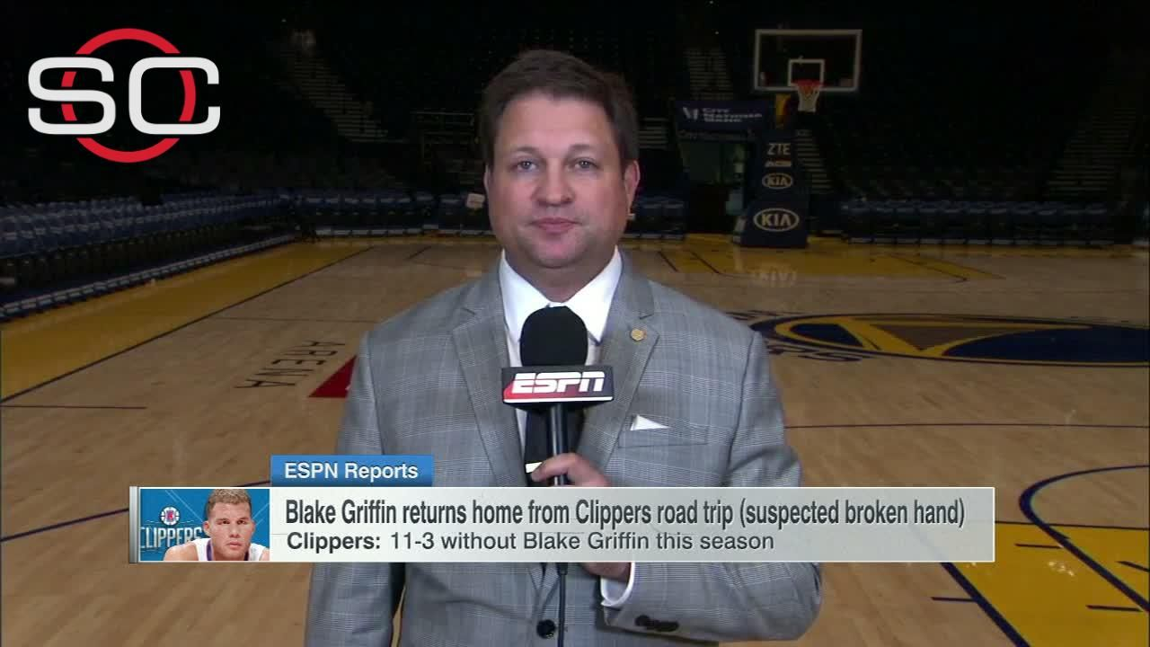 Report: Griffin likely out 'weeks' with suspected hand injury