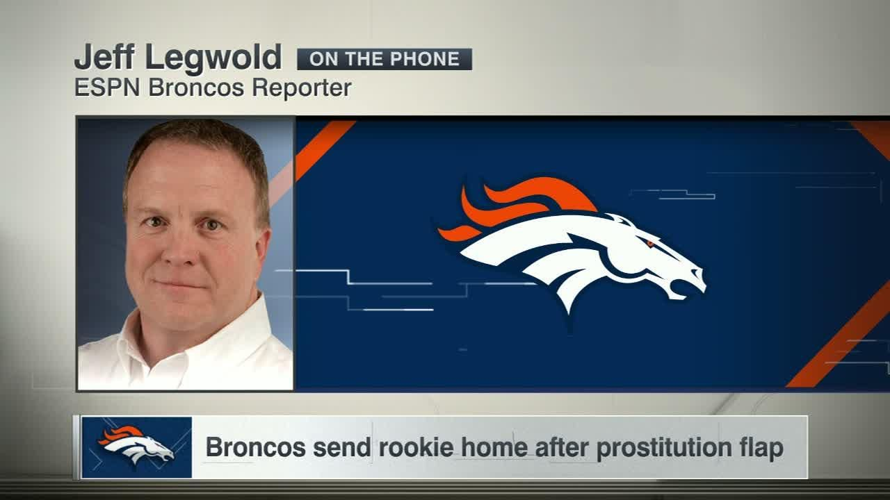 Broncos send rookie home after prostitution sting