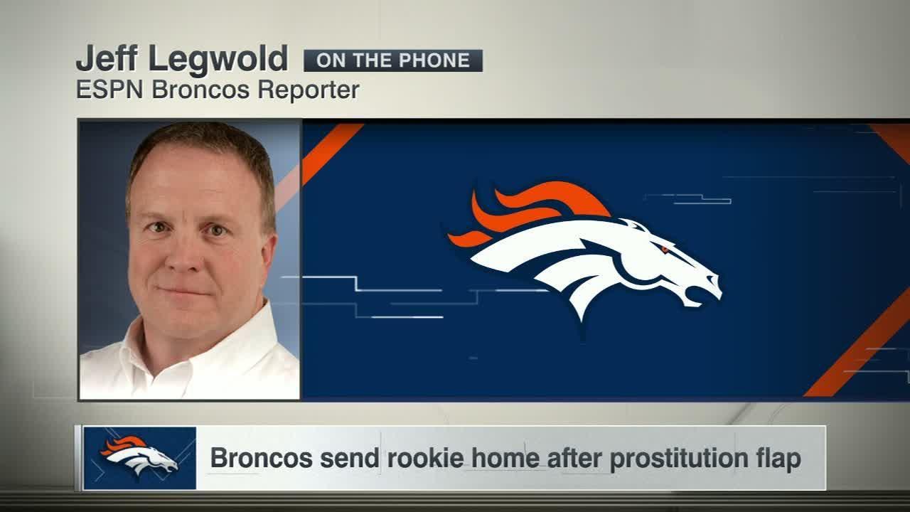 Broncos send rookie home after prostitution sting