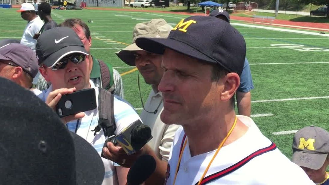 Harbaugh reiterates issue with 'hypocritical' Saban