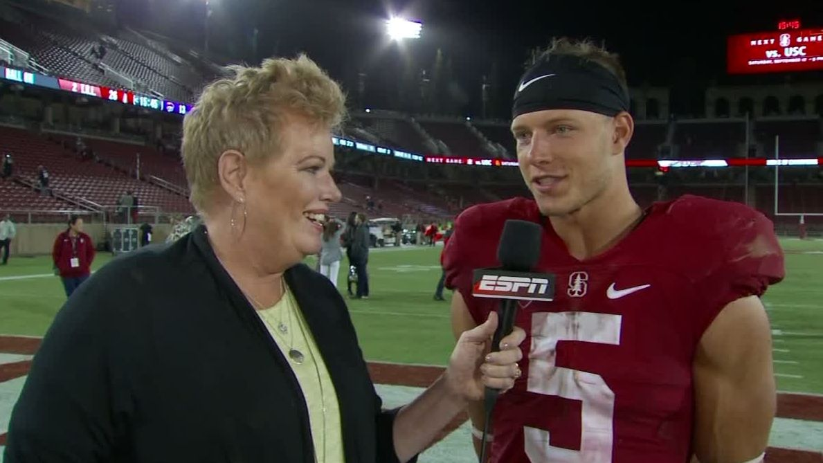 McCaffrey's two TDs lead Stanford to win