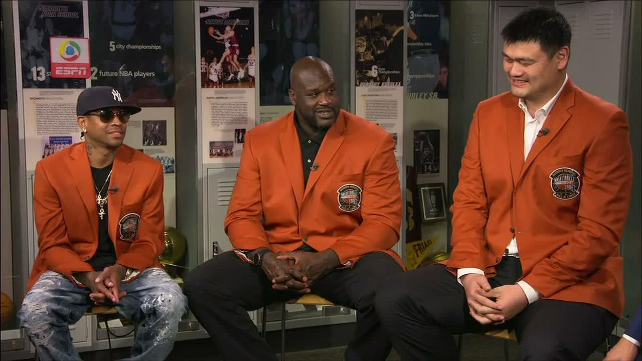 Shaq, Yao, Iverson reminisce about each other