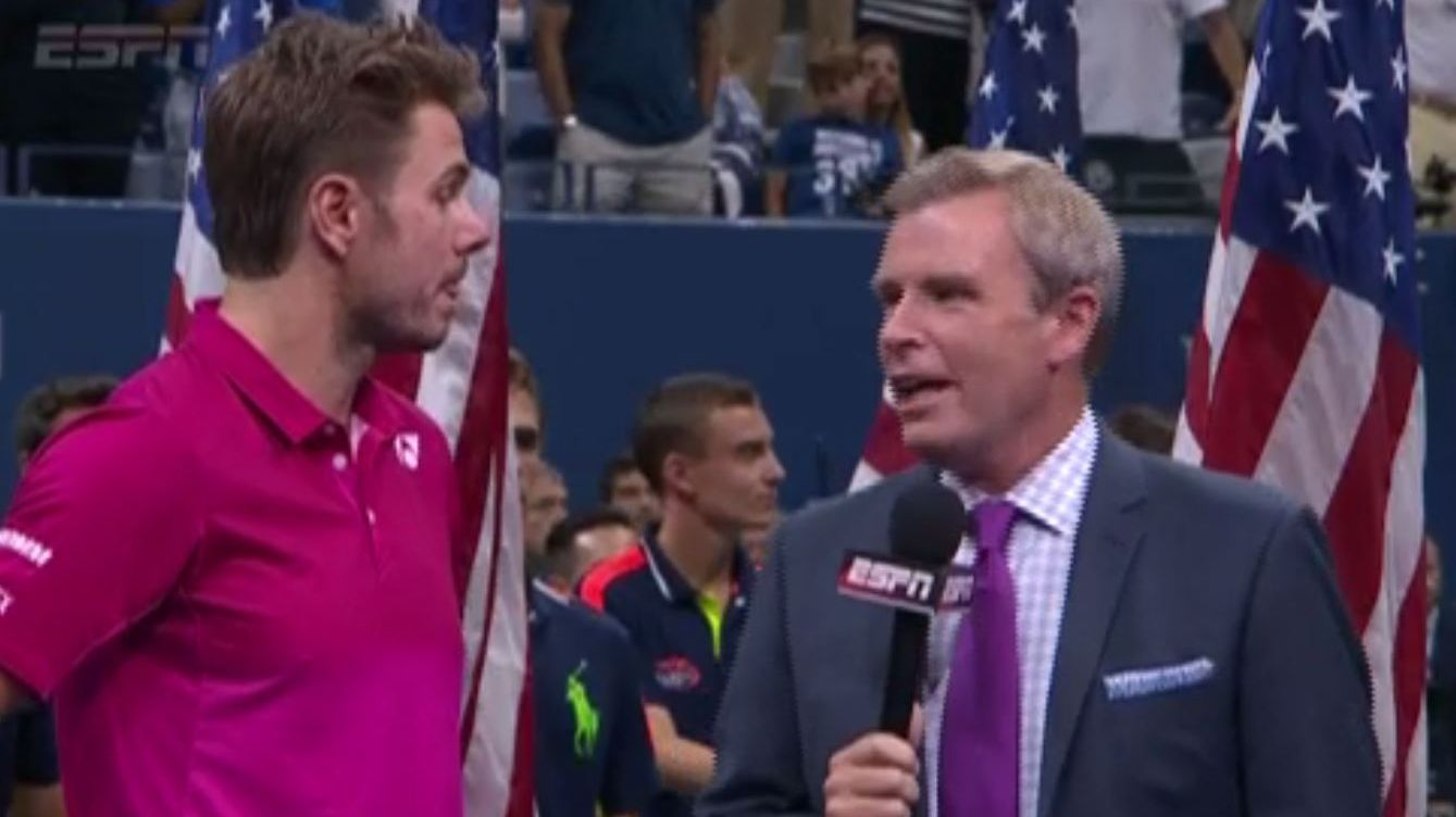 Wawrinka's emotional championship speech