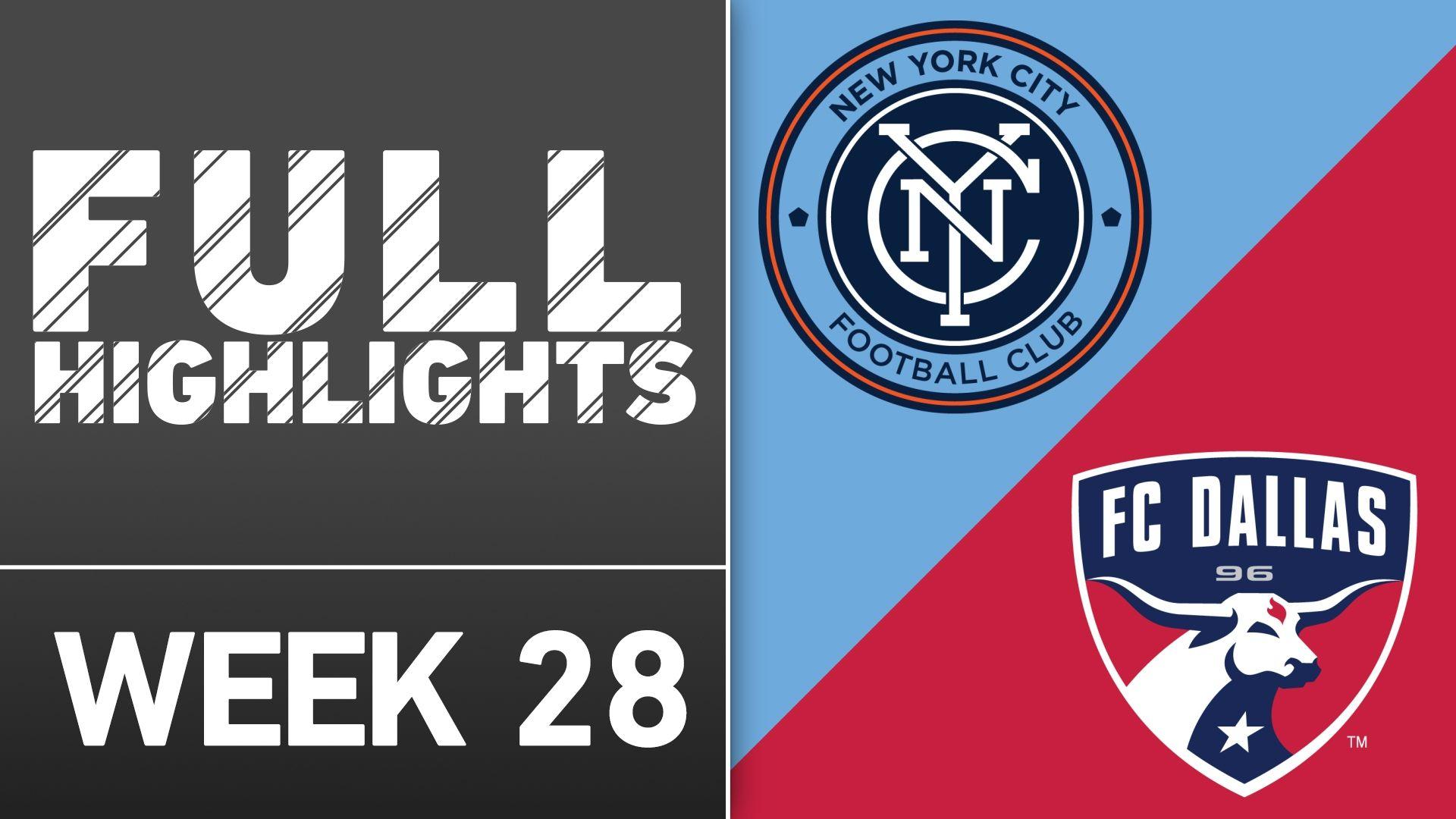 Video via MLS: NYCFC 2-2 FC Dallas
