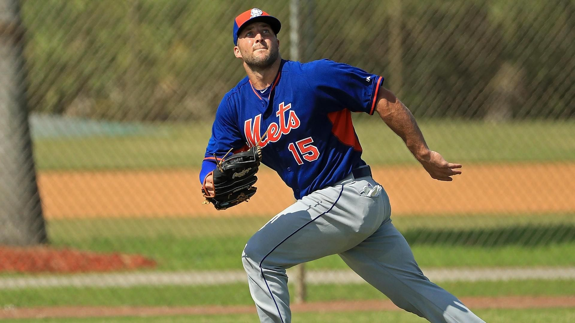 Get your first look at Tim Tebow in a Mets uniform
