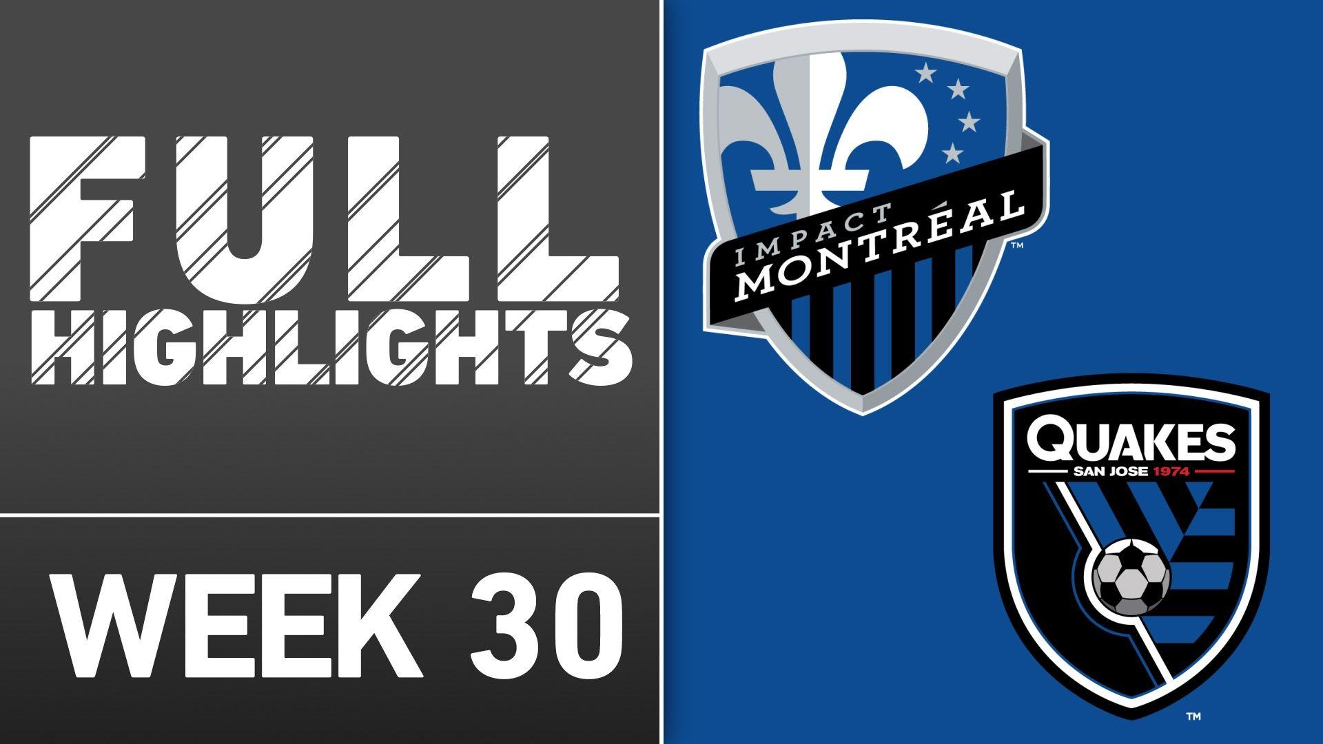 Video via MLS: Montreal 3-1 San Jose