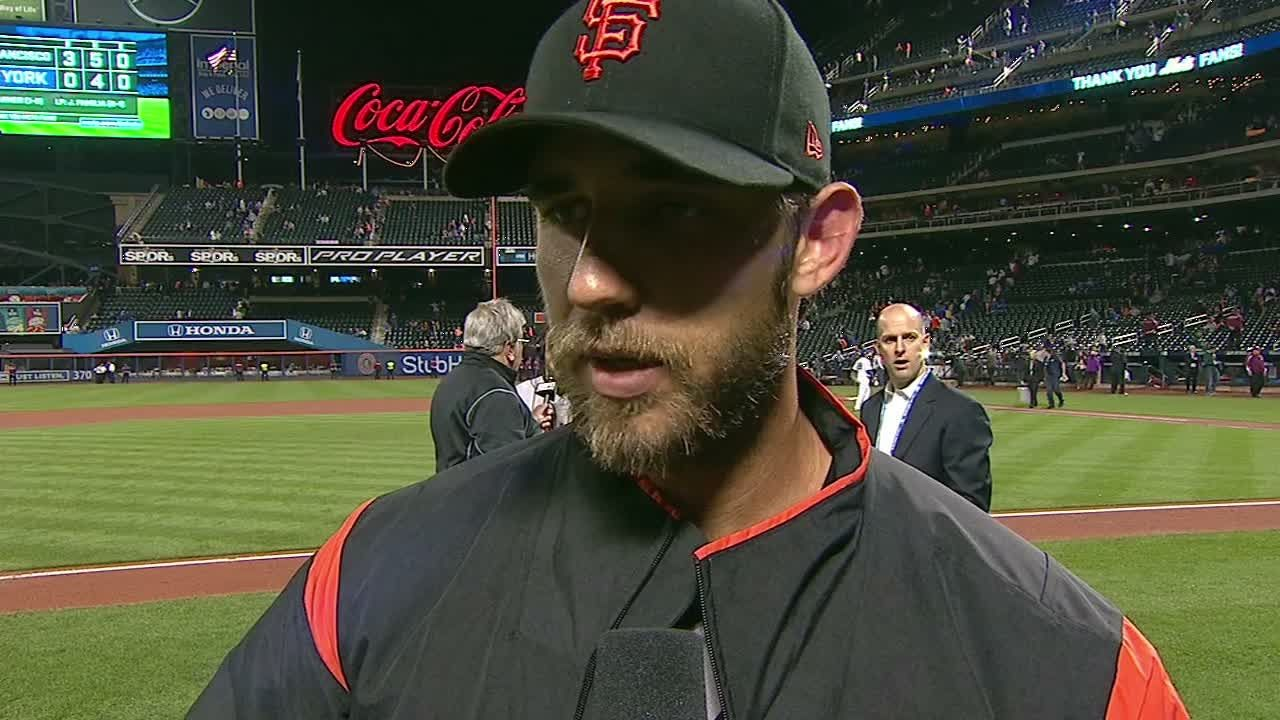 Bumgarner turns attention to Cubs after gem vs. Mets