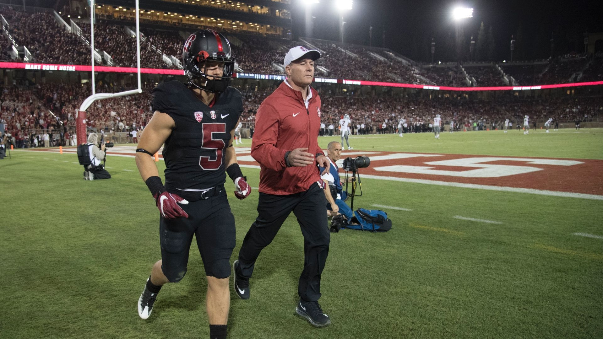 McCaffrey 'banged up' in Stanford's loss