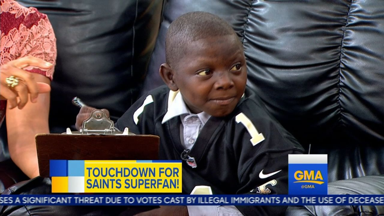 Saints surprise young fan with contract, media assignment