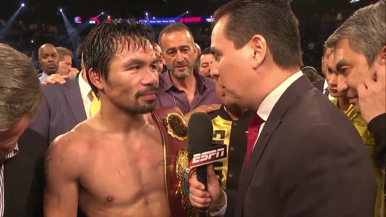 Pacquiao 'very happy' after win over Vargas