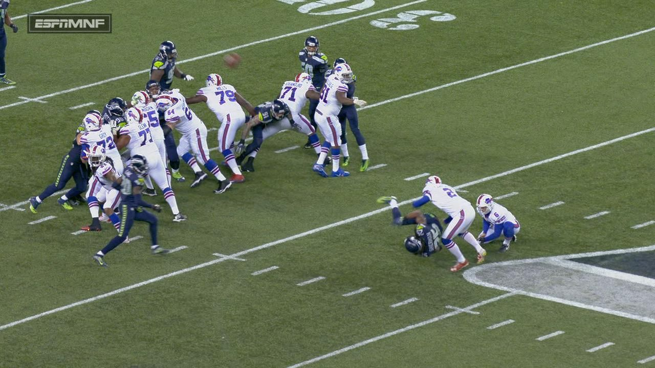 Sherman takes out Bills kicker; Rex Ryan flips out