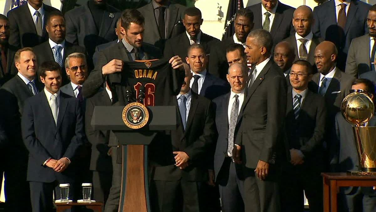 Cavs visit the White House