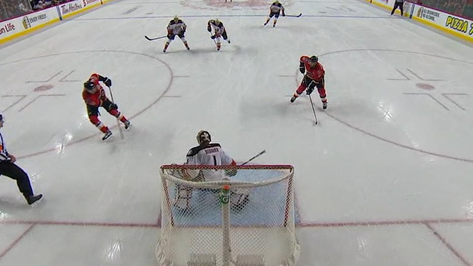 Gaudreau, Giordano open and close scoring for Flames