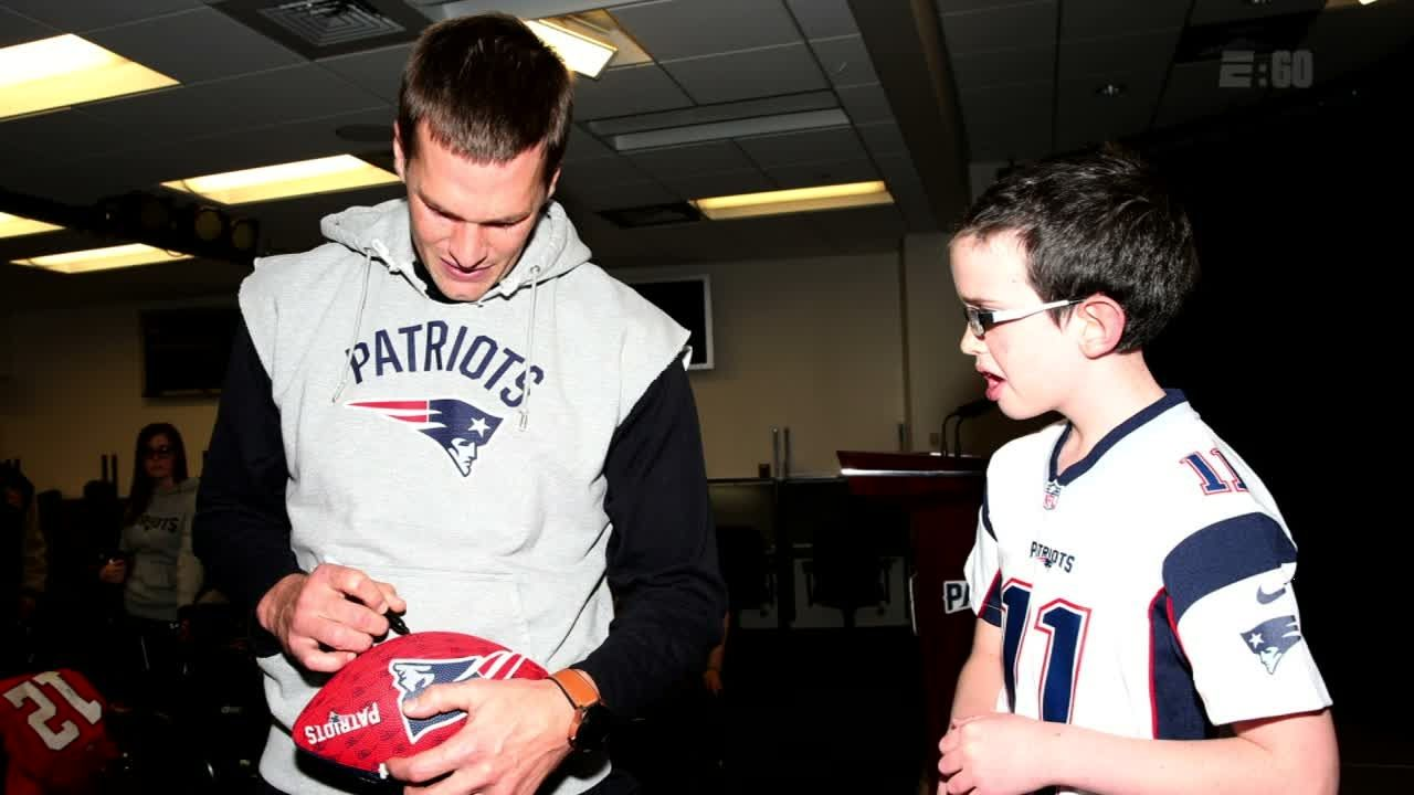 E:60: Ten-year-old Patriots fan's special bond with Tom Brady