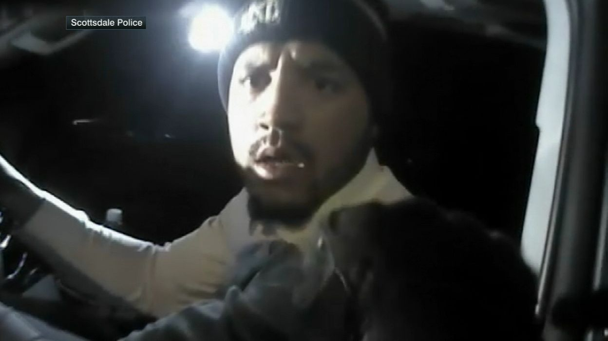 Michael Floyd shown asleep at the wheel in DUI arrest video