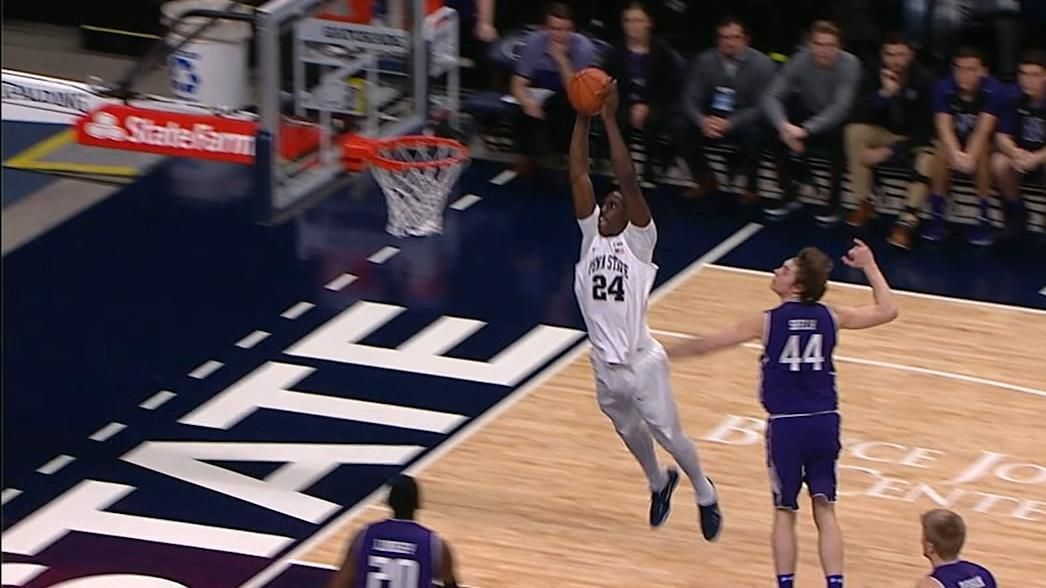Penn State connects on huge alley-oop slam