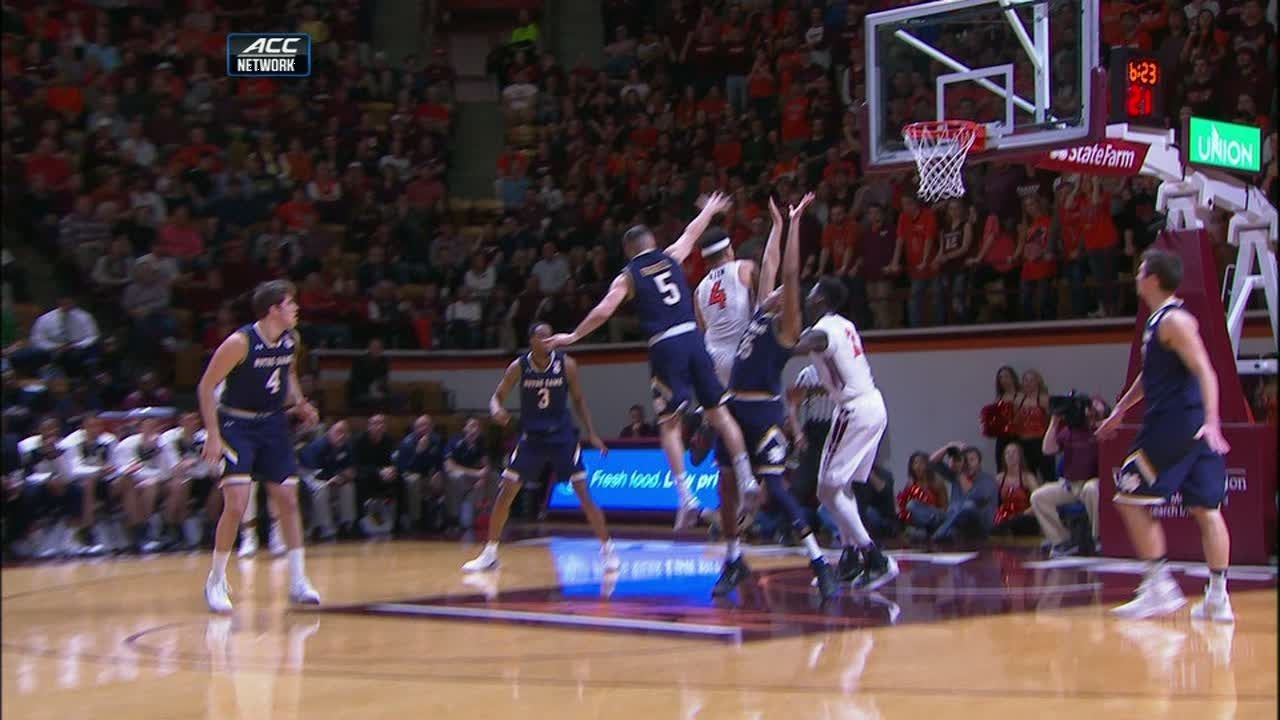Hokies Seth Allen makes sensational circus shot
