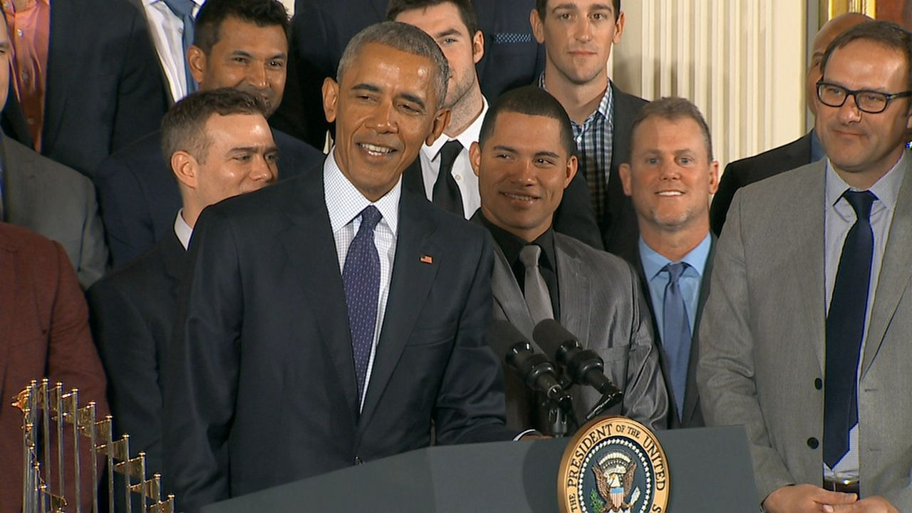 President Obama jokes he wasn't crazy enough to predict Cubs' win