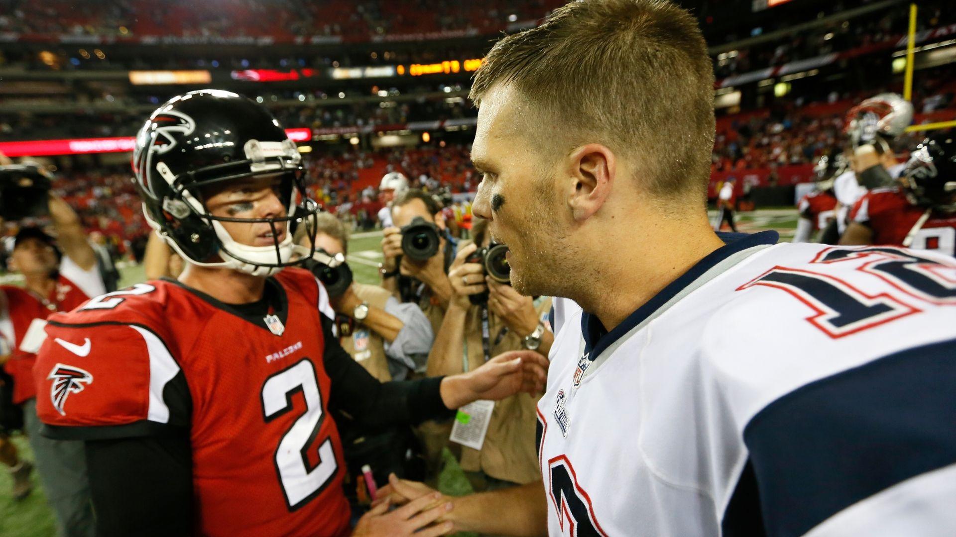 Brady says he talks to Matt Ryan regularly