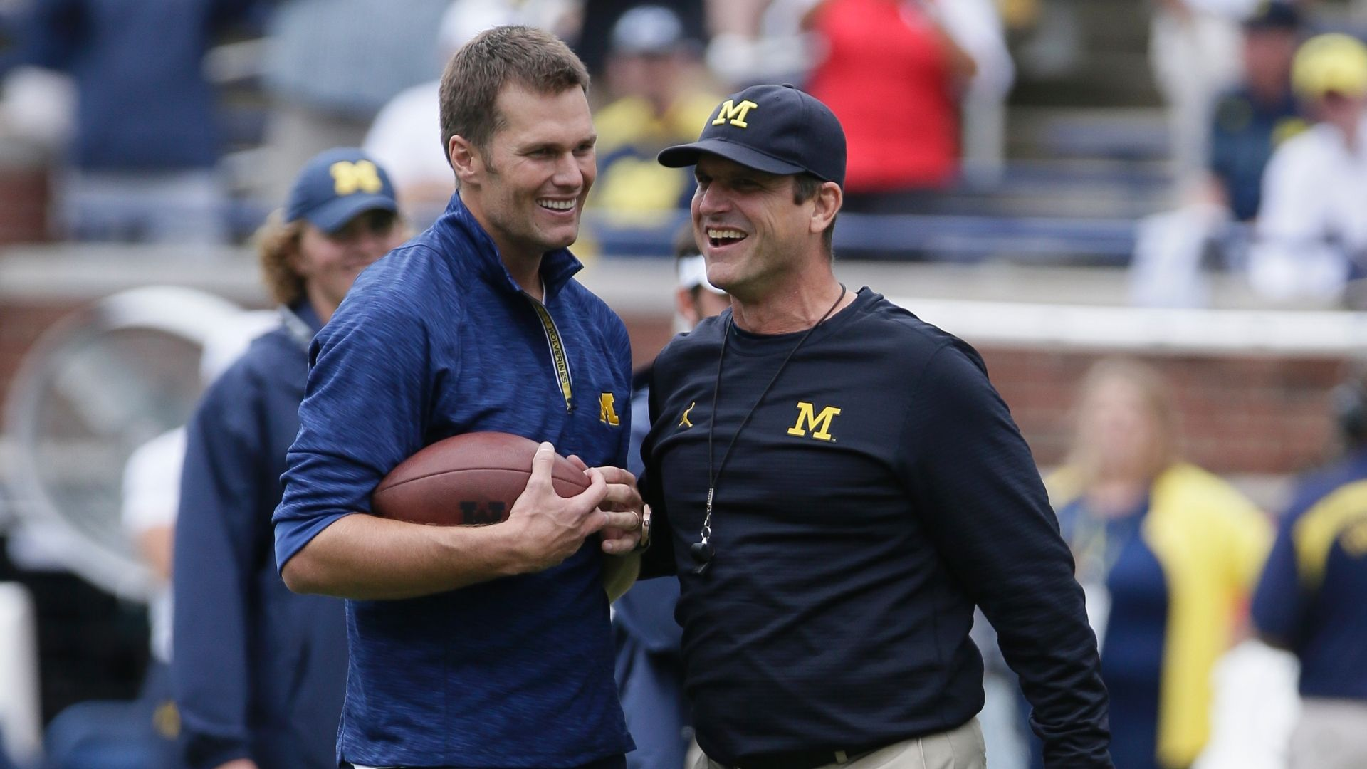 Jim Harbaugh calls Brady 'best of all time'