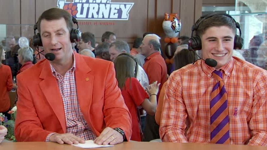 Swinney thrilled for chance to coach son