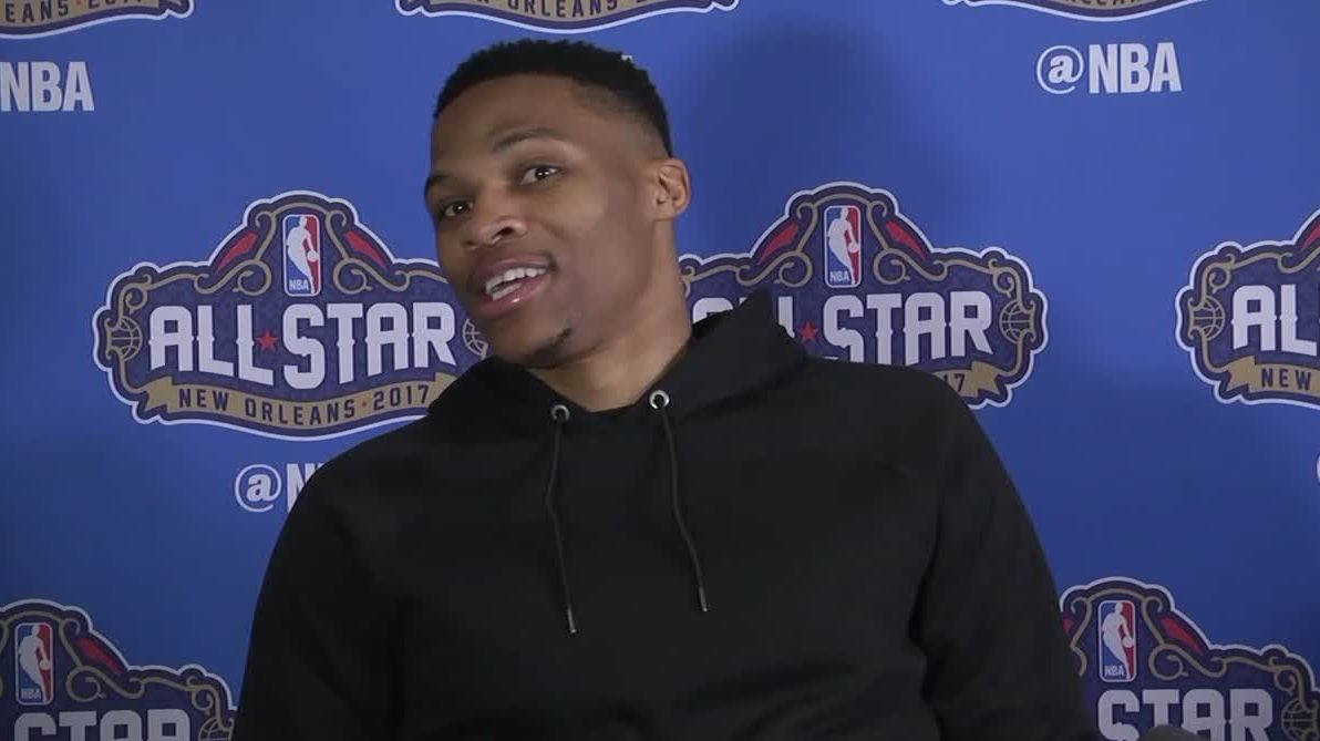 Westbrook turns question about KD into fashion advice