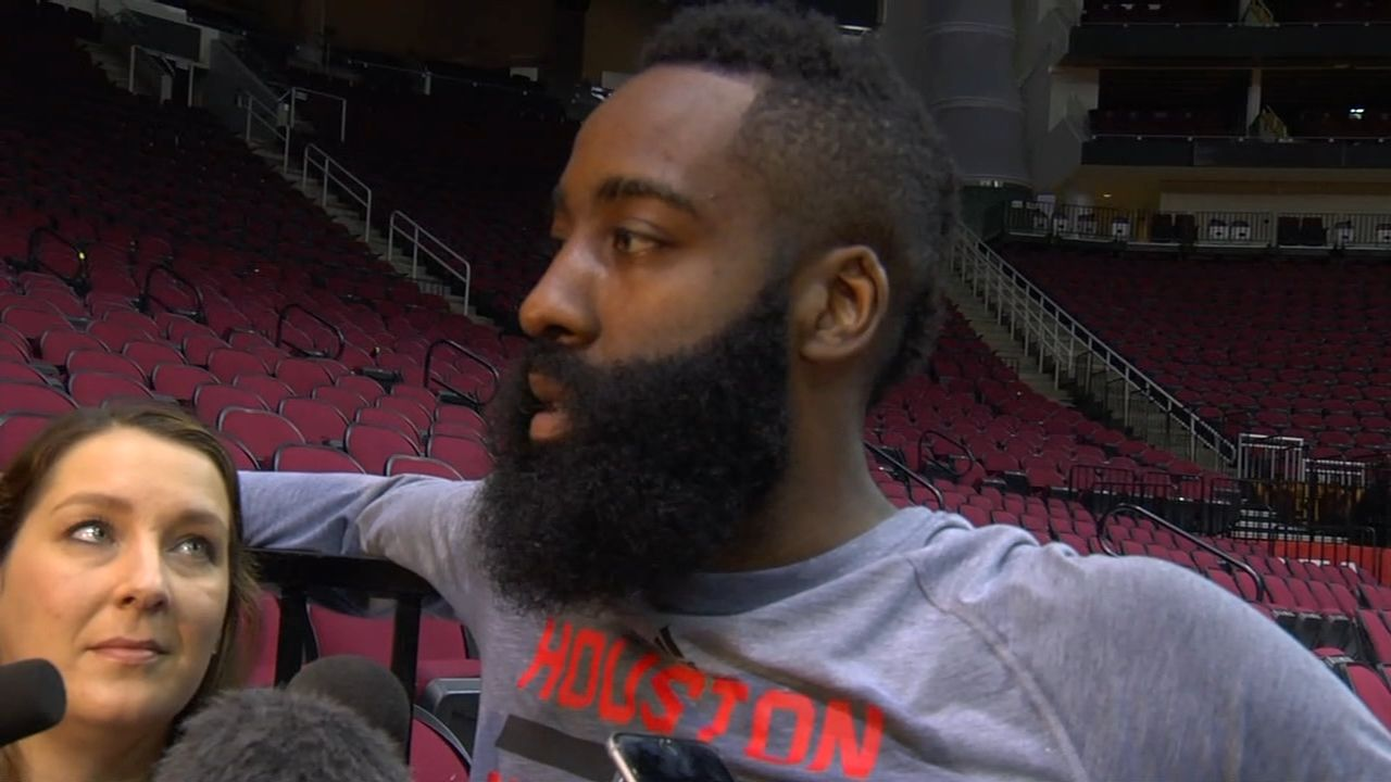Harden places emphasis on being there for Rockets