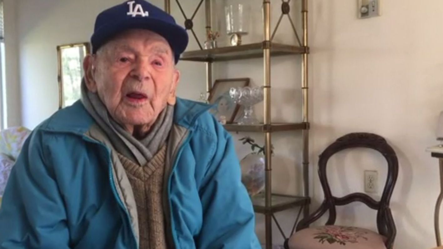 108-year-old Dodgers fan remembers 100 years of baseball
