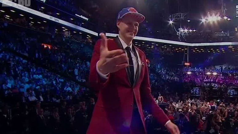 Porzingis' draft night drama in 2015