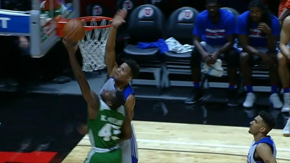 Fultz gets up for the big block