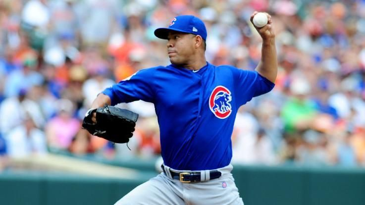 Quintana dazzles with 12 Ks in Cubs' debut