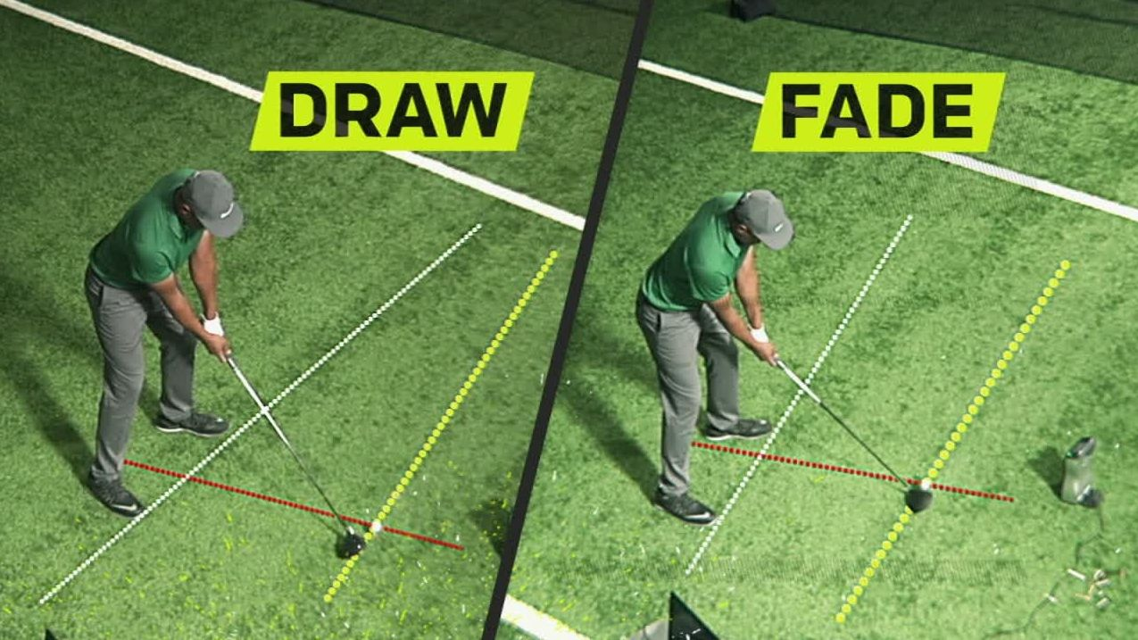 The subtle difference between a draw and fade off the tee