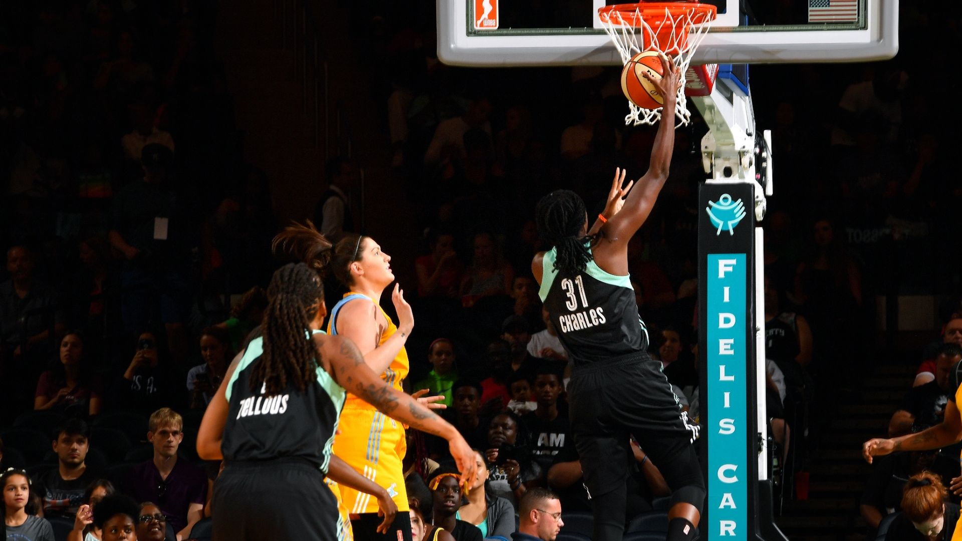 Charles leads Liberty to rout of Sky