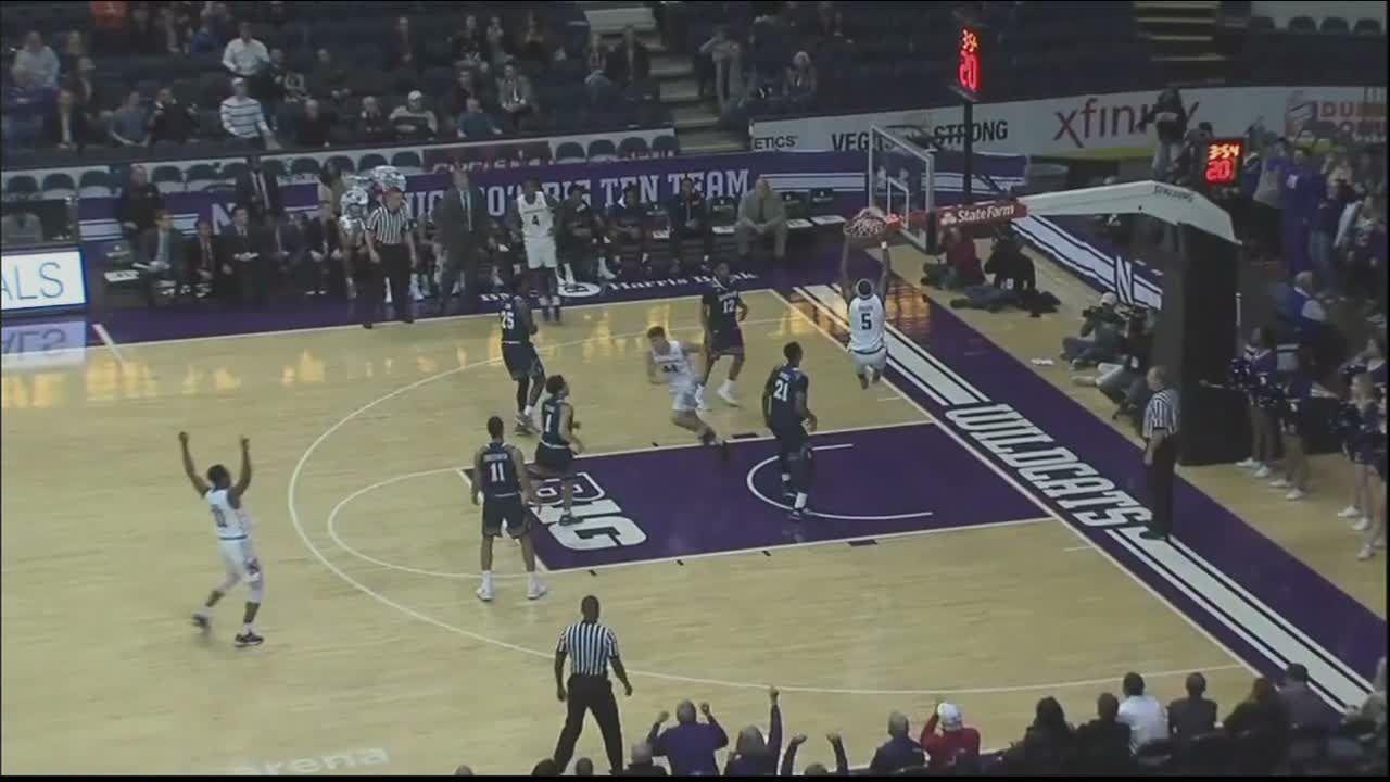 Pardon slams it home for Northwestern
