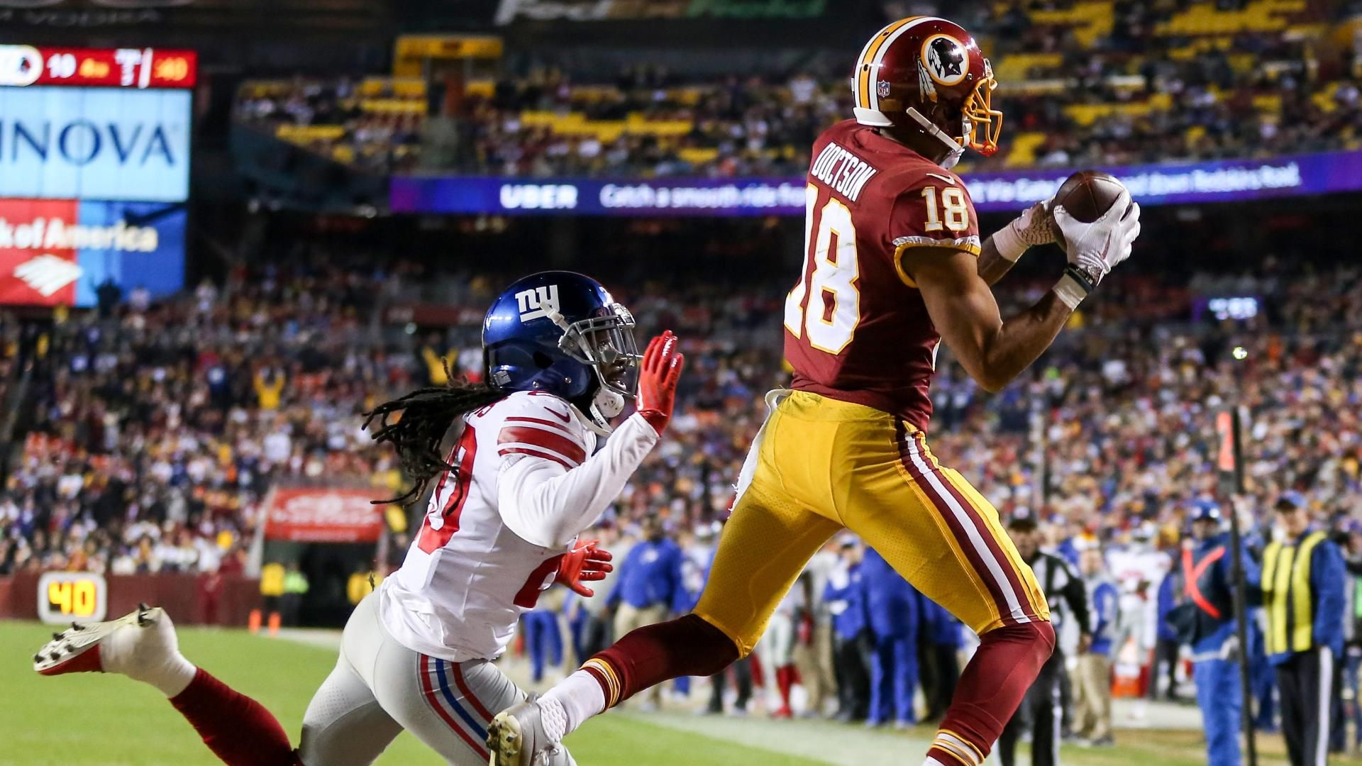 Doctson makes leaping catch for go-ahead TD