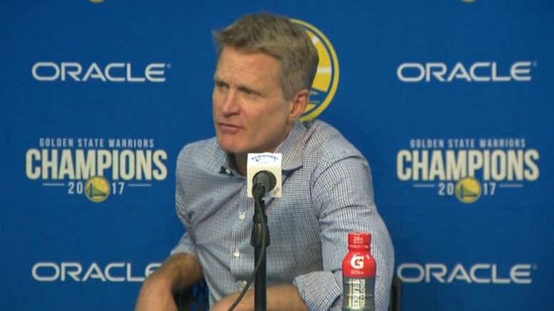 Kerr regrets playing KD against Thunder