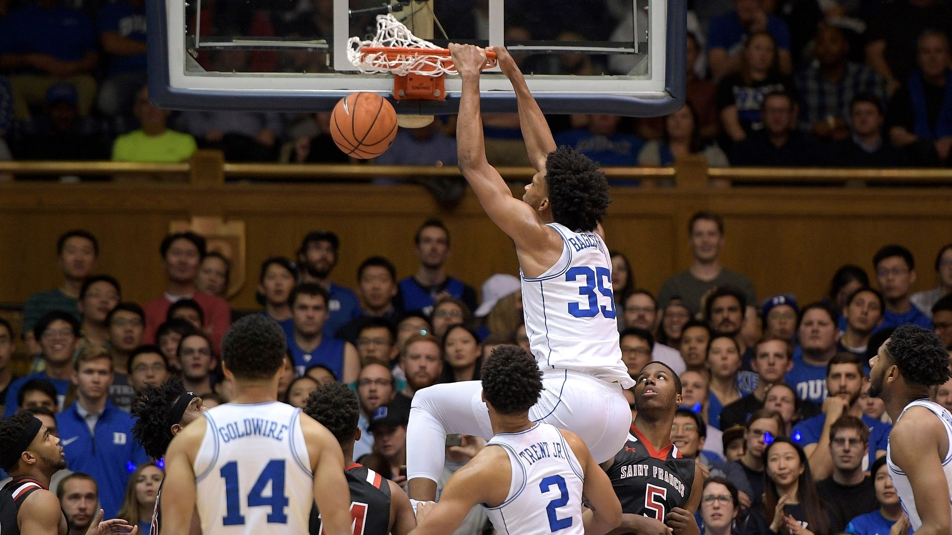Bagley leads Duke en route to win over St. Francis